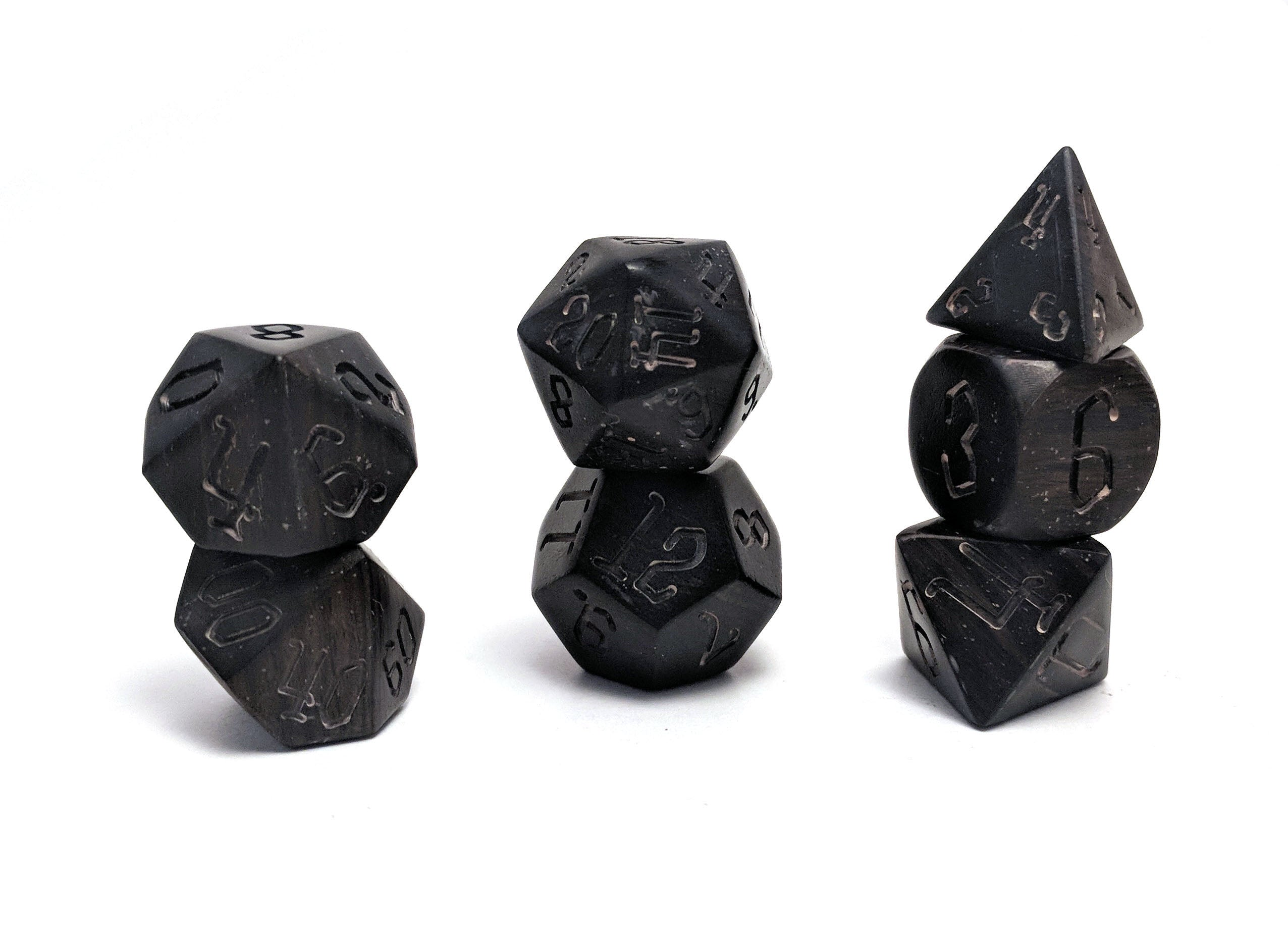 Ebony Wood Dice Set