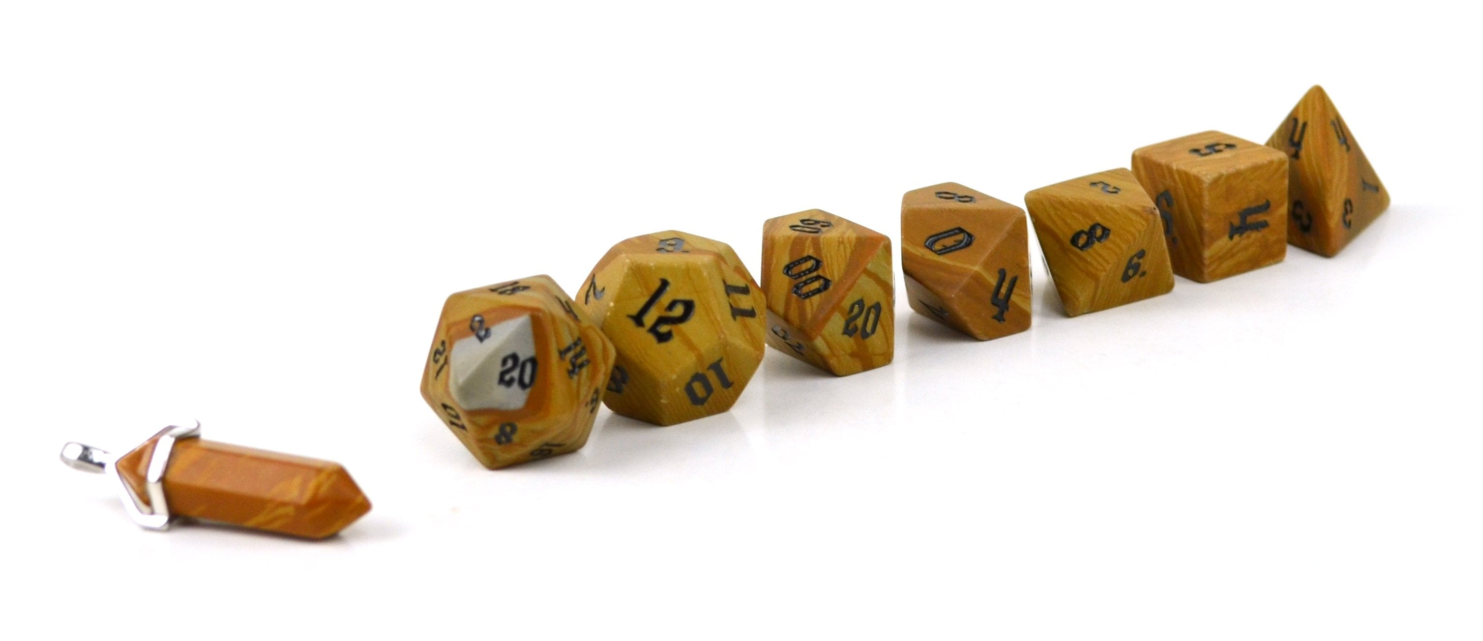 Egyptian Marble Semi Precious Stone Dice Set