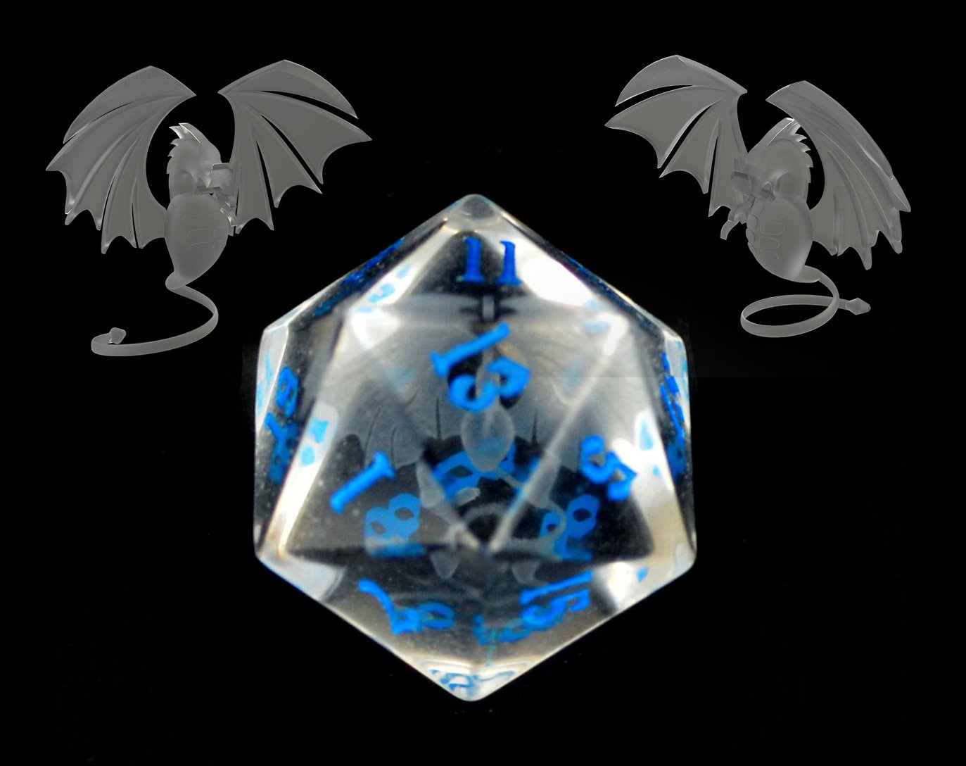 Internally Engraved Glass - Dragon