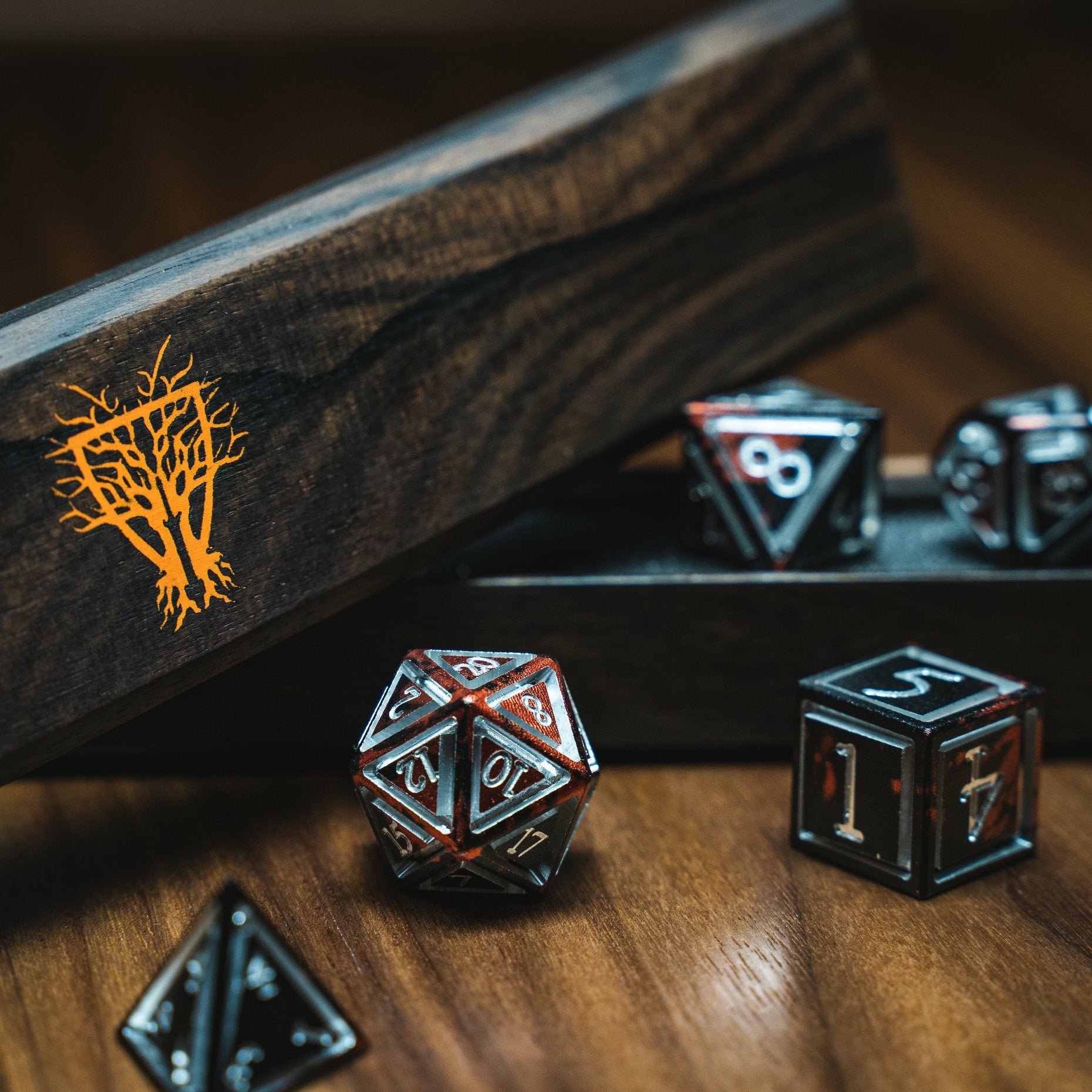 Limited Edition Halloween Dice Vault & Caged Dice