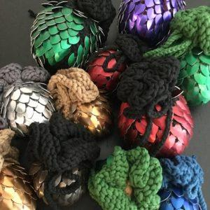 Scale Maille Small Glow in the Dark Green by Dark Nouveau