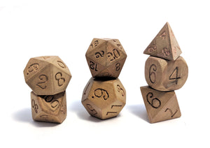 Gold Phoebe Nanmu Wood Dice Set