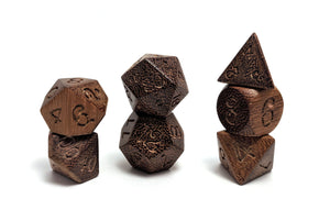 Odum Wood Dice Set