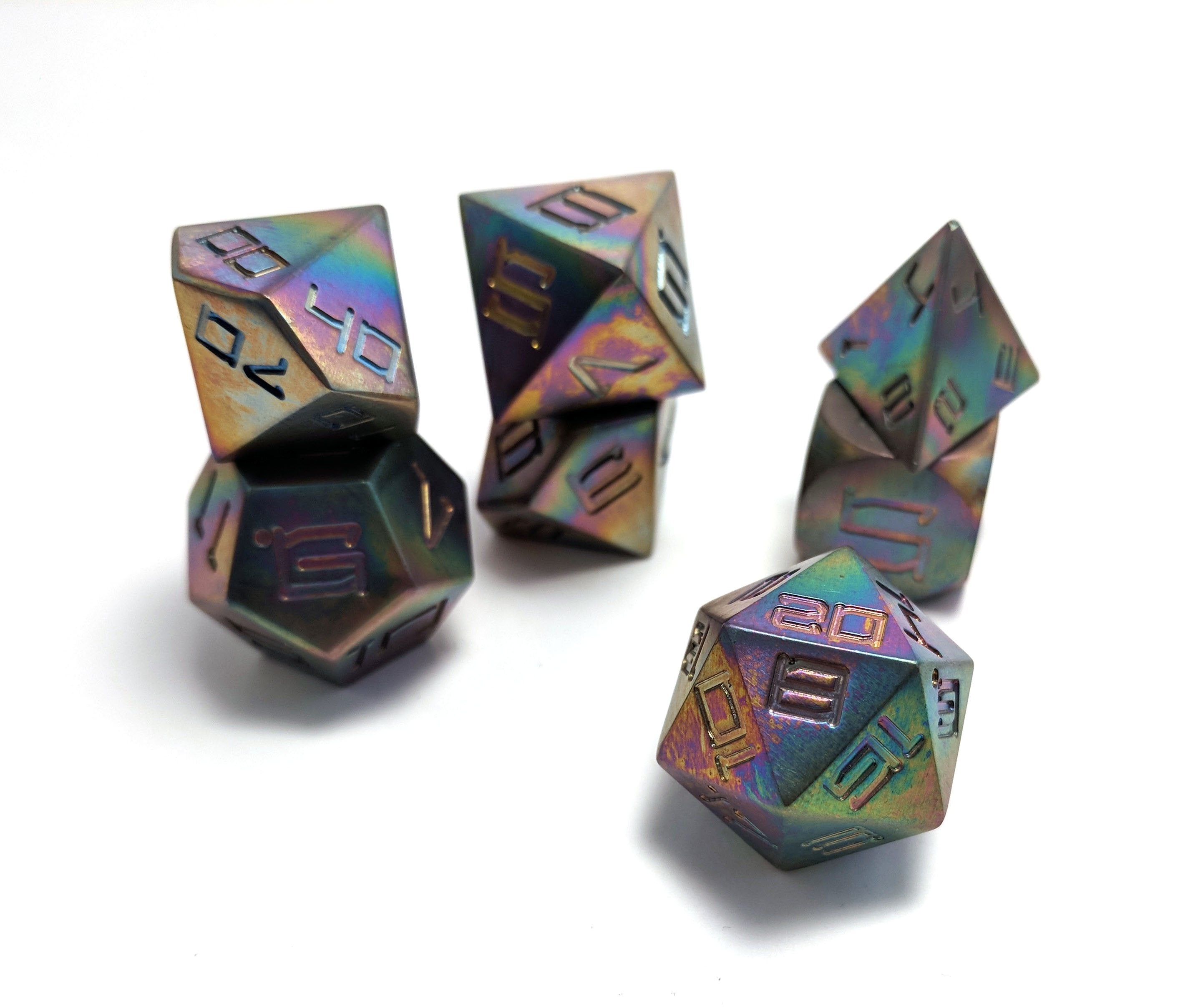 Flame Touched Titanium Pastel Set of 7