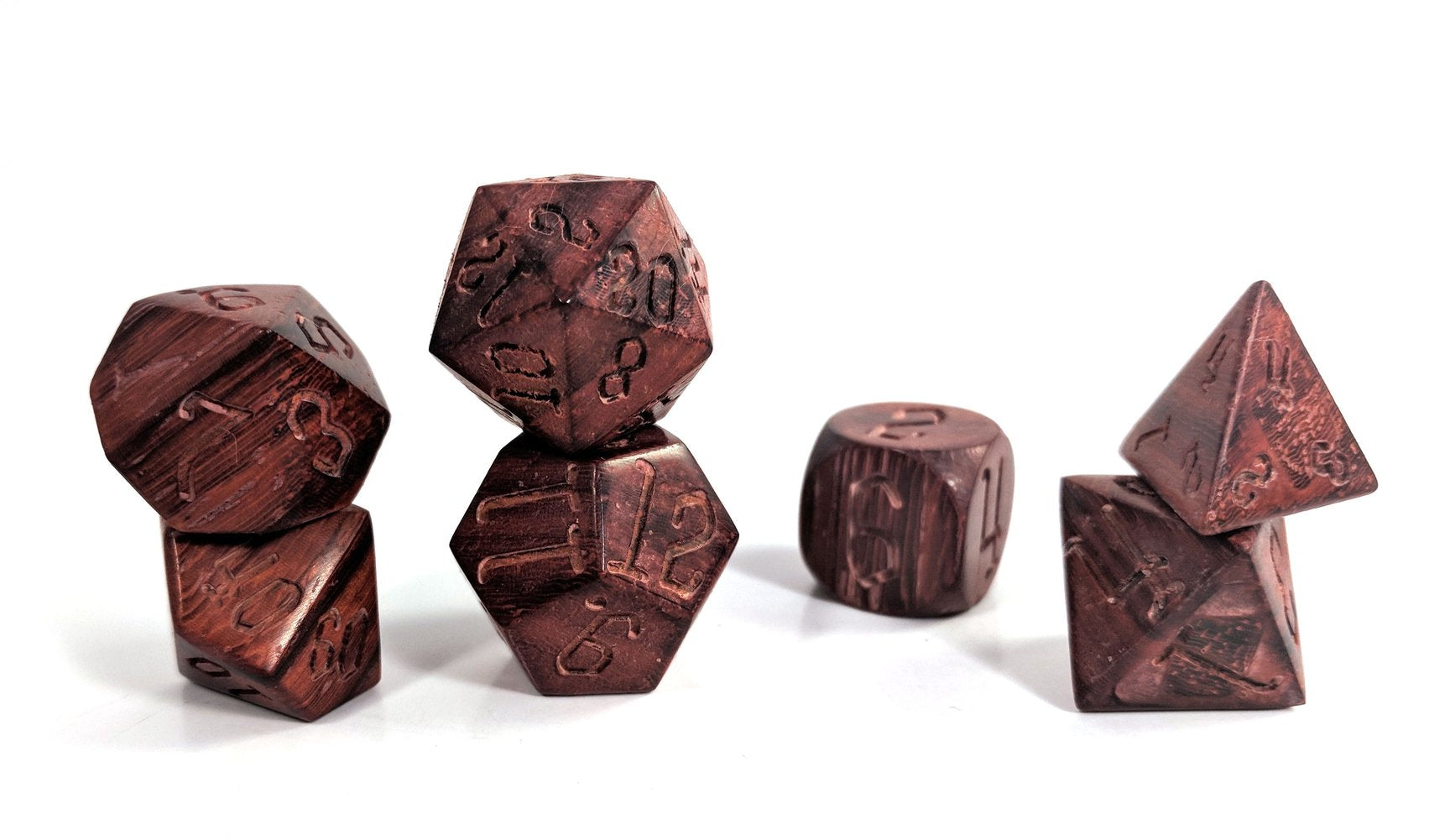Pau Ferro Wood Dice Set