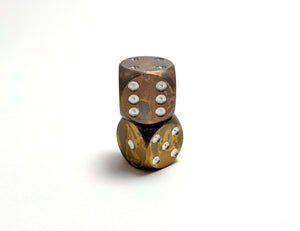 Tarnished Gold Mini D6 Aluminium
