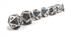 Black Diemetric Aluminium Dice Set