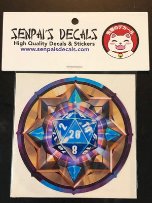 Blue/White D20 by Senpai Decals