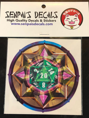 Green/Black D20 by Senpai Decals