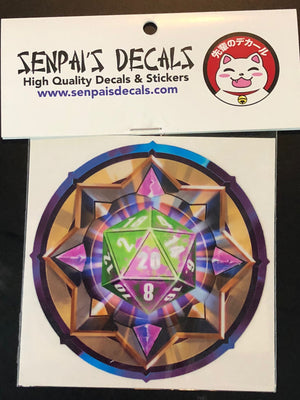 Pink/Green D20 by Senpai Decals