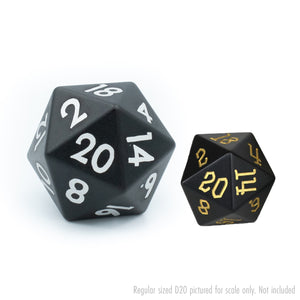 Black Tableshaker 30mm Aluminium D20