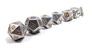 Yellow Diemetric Aluminium Dice Set