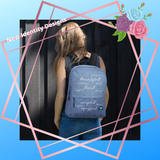 Affirmations Blue Backpack - Christian Apparel, Bags for Travel, Bags for School, Bags for Work