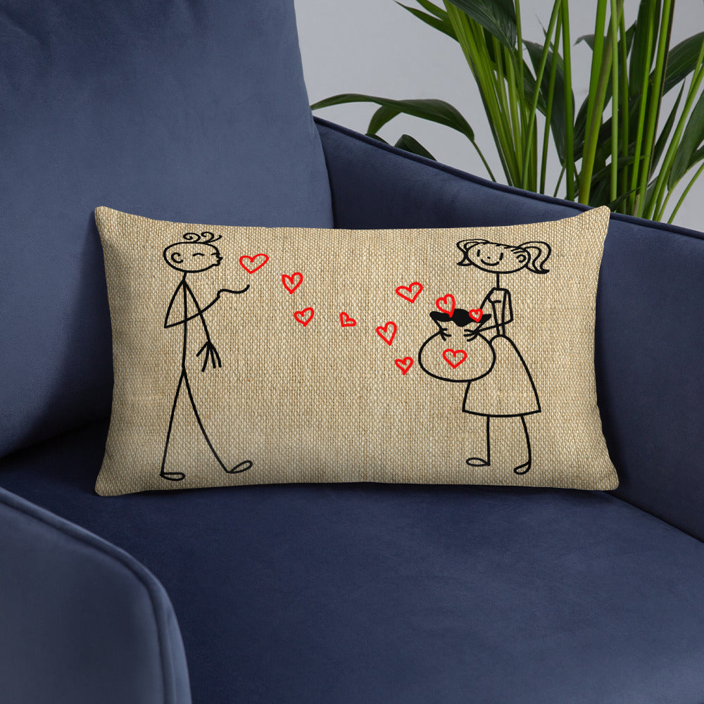 Pillow - Stick Couple In Love - Gift for Home, Wedding Gift, Valentine's Day Gift