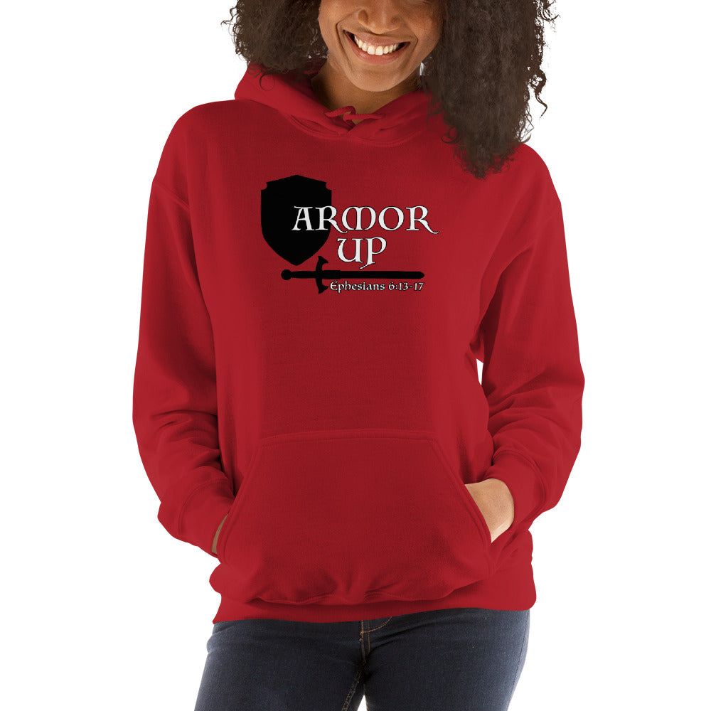 Armor Up Hooded Unisex Sweatshirt - Dark Colors