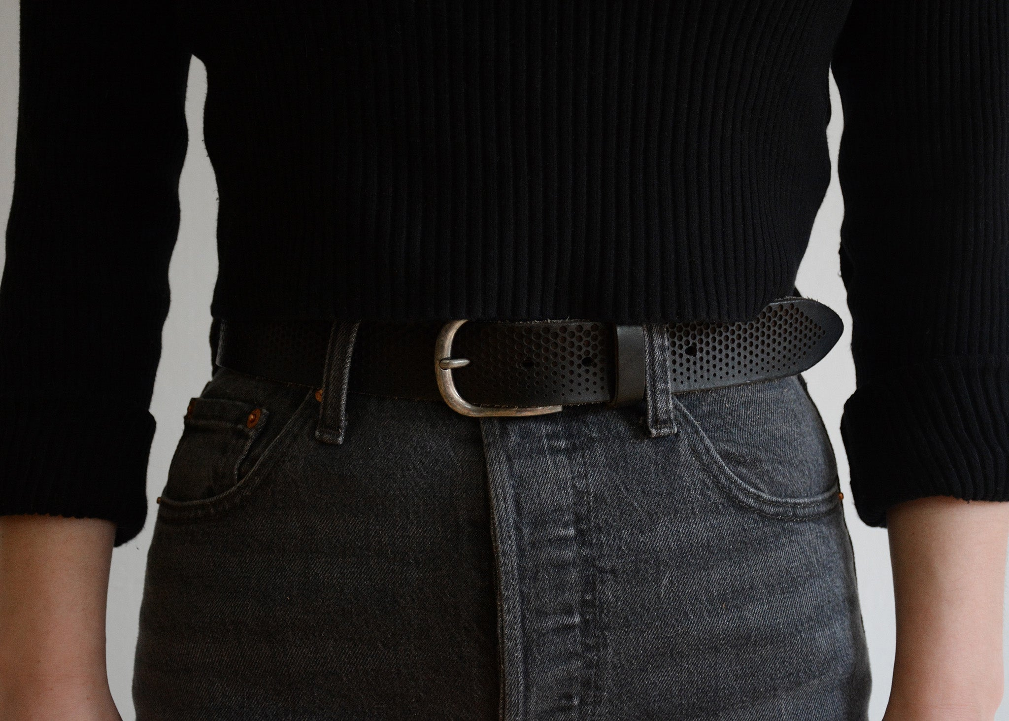 Fletcher Laser Cut Leather Belt