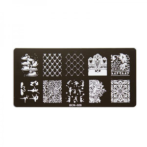 Nail stamp plate - 026