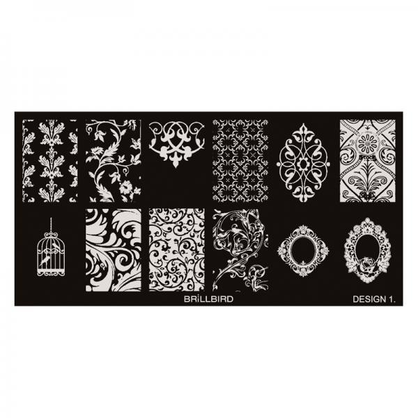 Nail stamp plate - Design 1