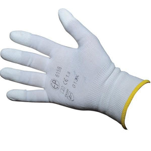Gloves with rubber finger tips