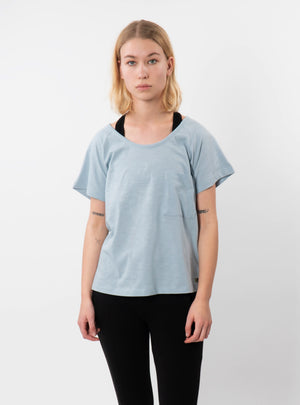 Powder Blue Effie Slouch Pocket T