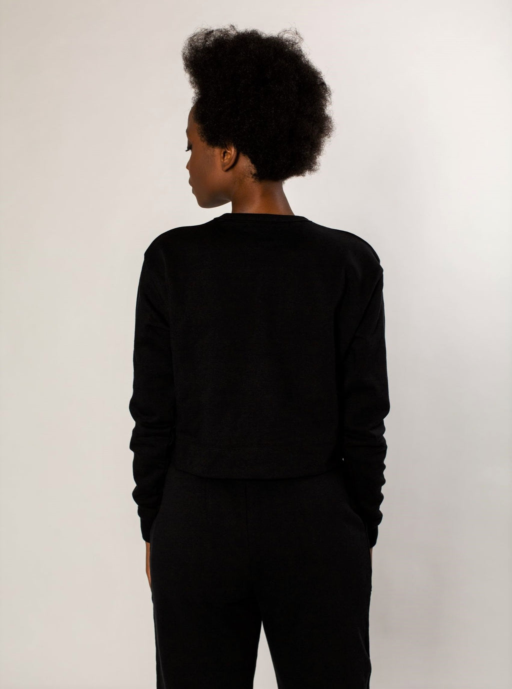 Black Faun Crop Jumper