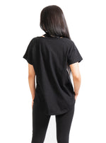 Black Effie Slouch Pocket T