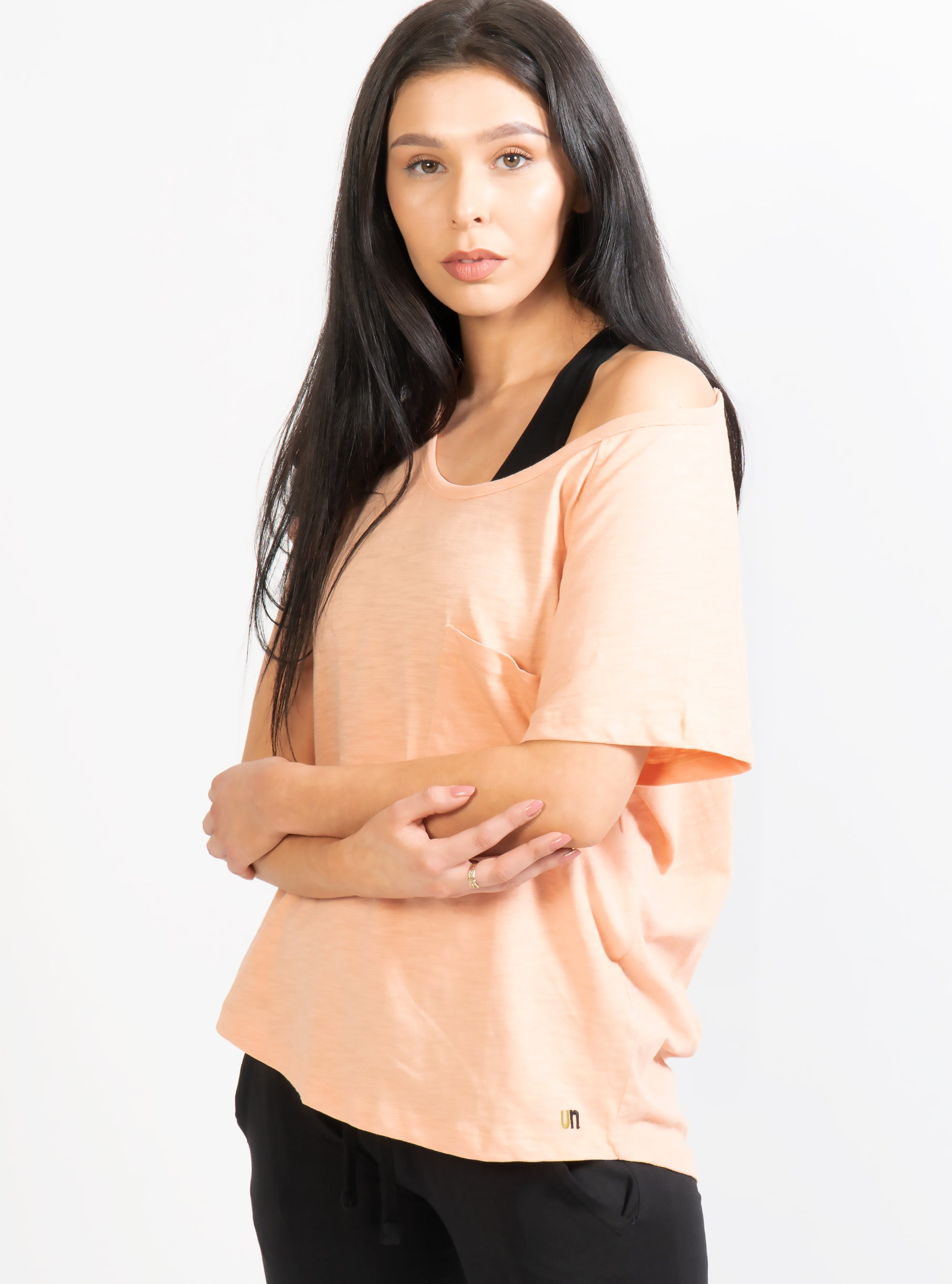 Tea Pink Effie Slouch Pocket T