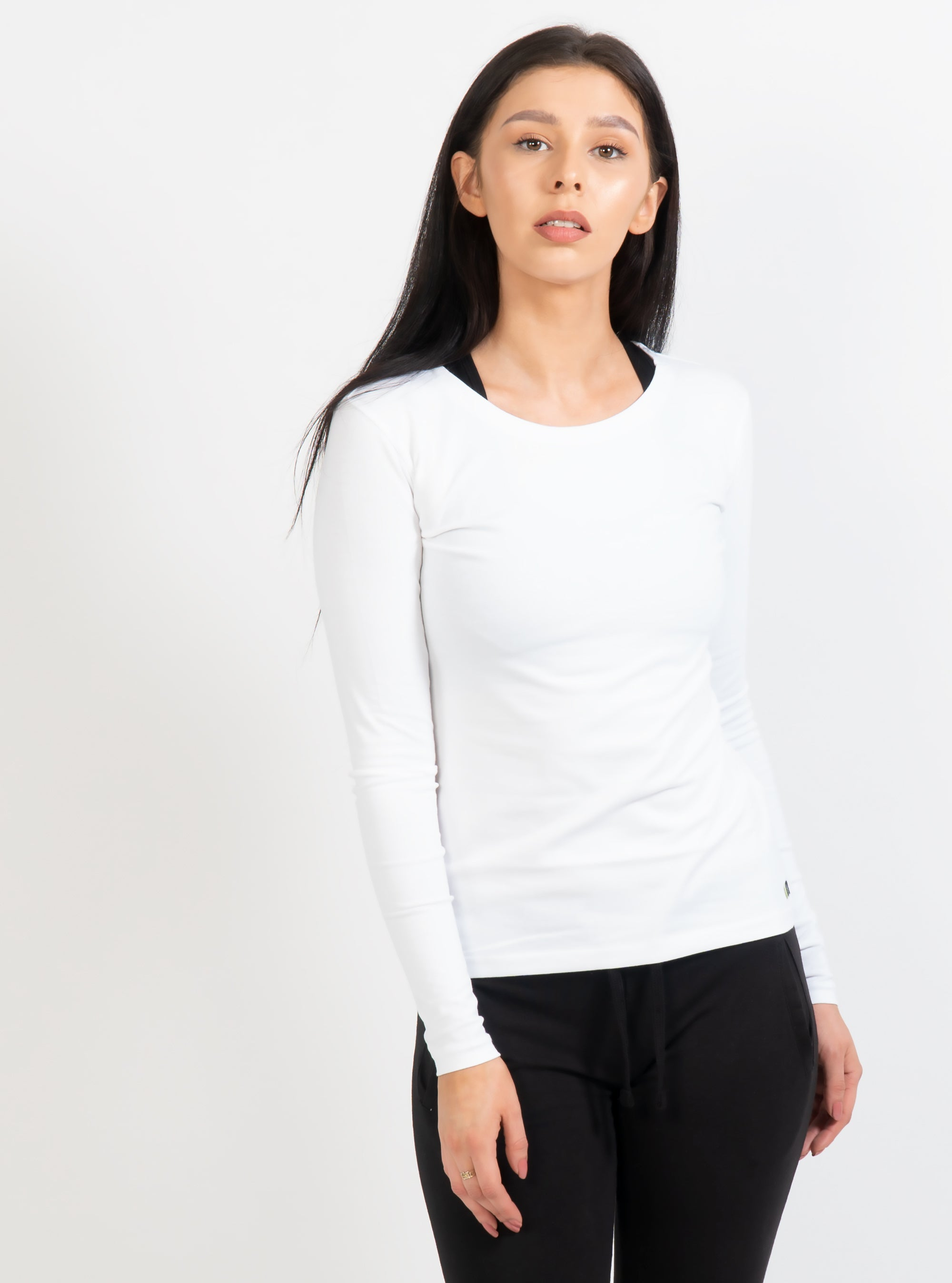White Febe Long Sleeve T