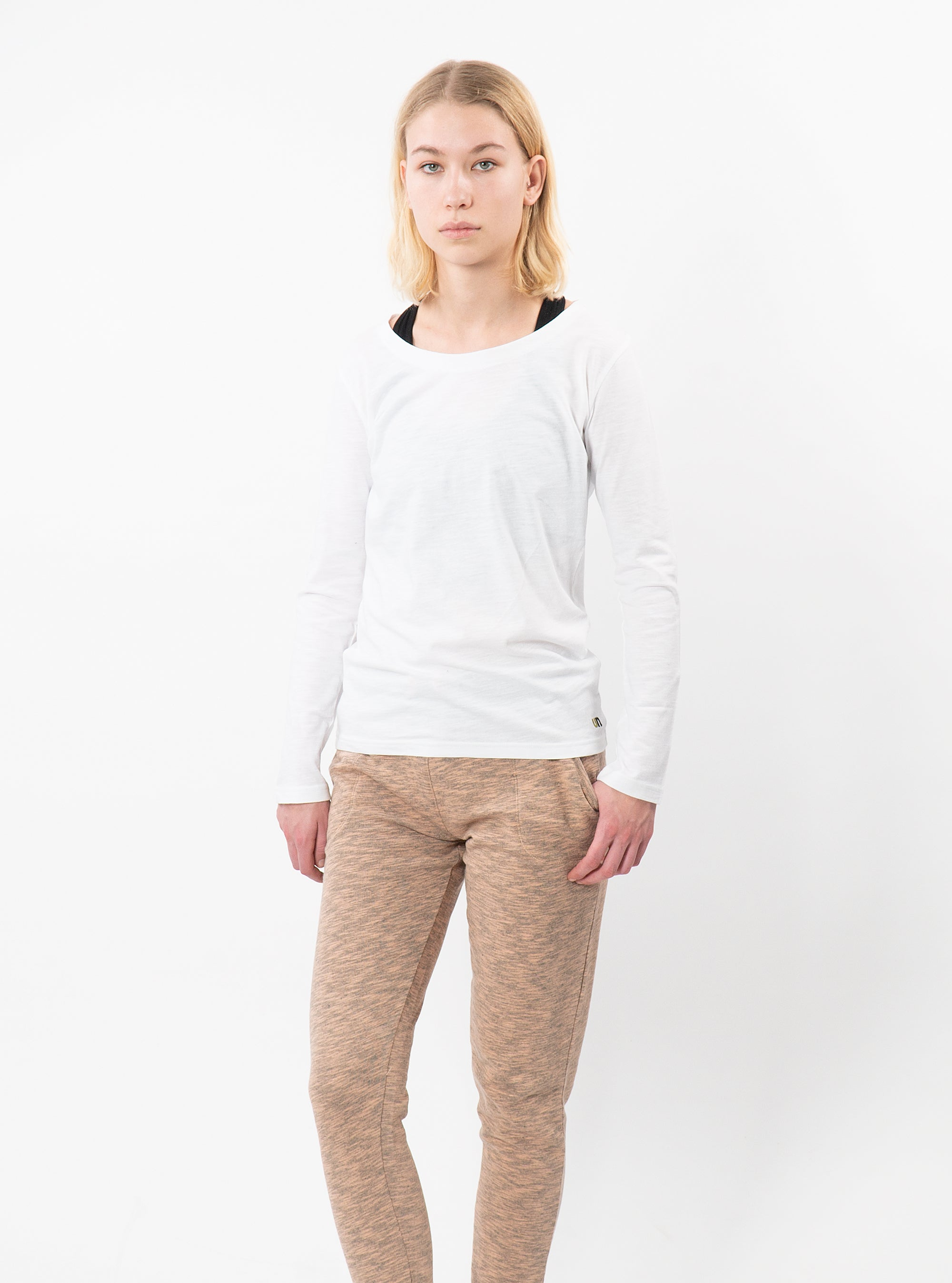 White Chara Long Sleeve T