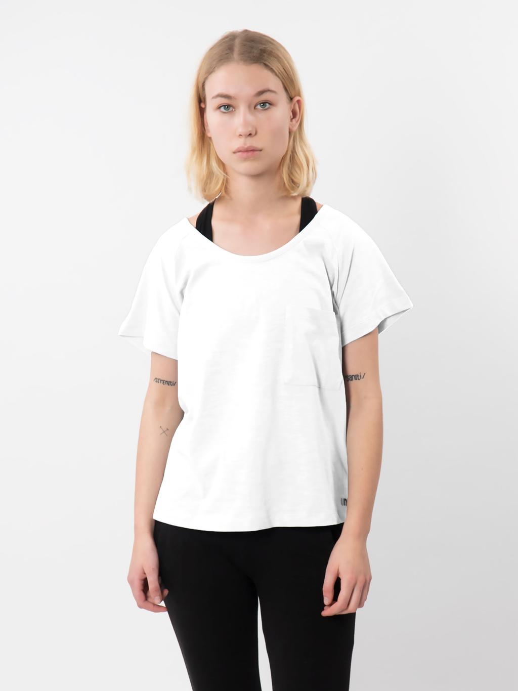 White Effie Slouch Pocket T