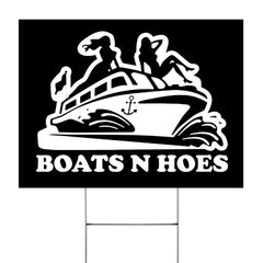 Boats N Hoes Sign Boats'n Hoes Sexy Girl Ladies Yard Sign Humour Sign For Step Brothers Fan