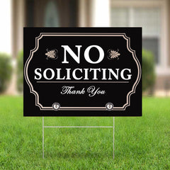 No Soliciting Yard Sign Thank You Lawn Sign Home Decoration