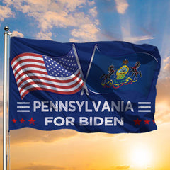 Pennsylvania For Biden American Flag Voting For Biden Harris Race Presidential Campaign 2020