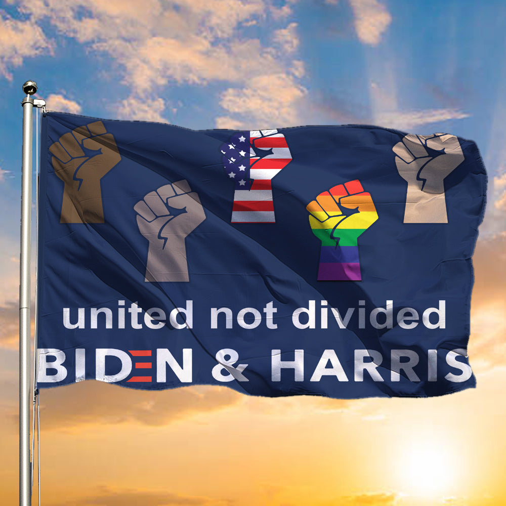 United Not Divided Biden And Harris Flag Patriotic LGBT Voters Biden Political Lawn Flags