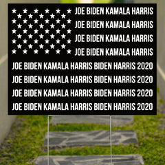 Biden Harris American Flag Yard Sign Official Biden Harris Yard Sign Biden Victory Fund Joe2020