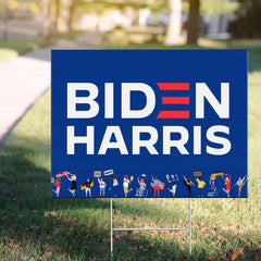 Official Biden Harris Yard Sign Support For Equality Human Rights Biden Merch Outside Decor