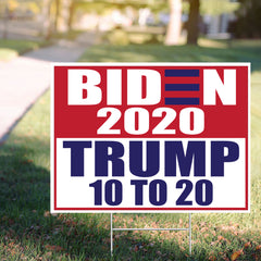 Joe Biden 2020 Trump 10 To 20 Yard Sign Biden And Harris Nope Trump Sign Decor Yard Sign