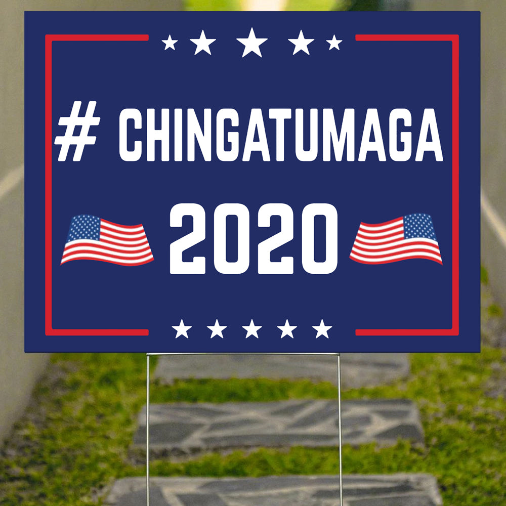 Chingatumaga 2020 Yard Sign Anti Trump Lawn Signs Funny Political Gifts Front Yard Decor