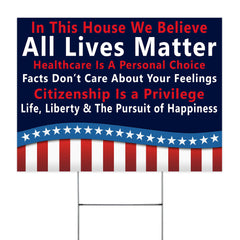 Conservative Yard Signs Social Justice Yard Signs Support All Lives Matter Porch Decor Ideas
