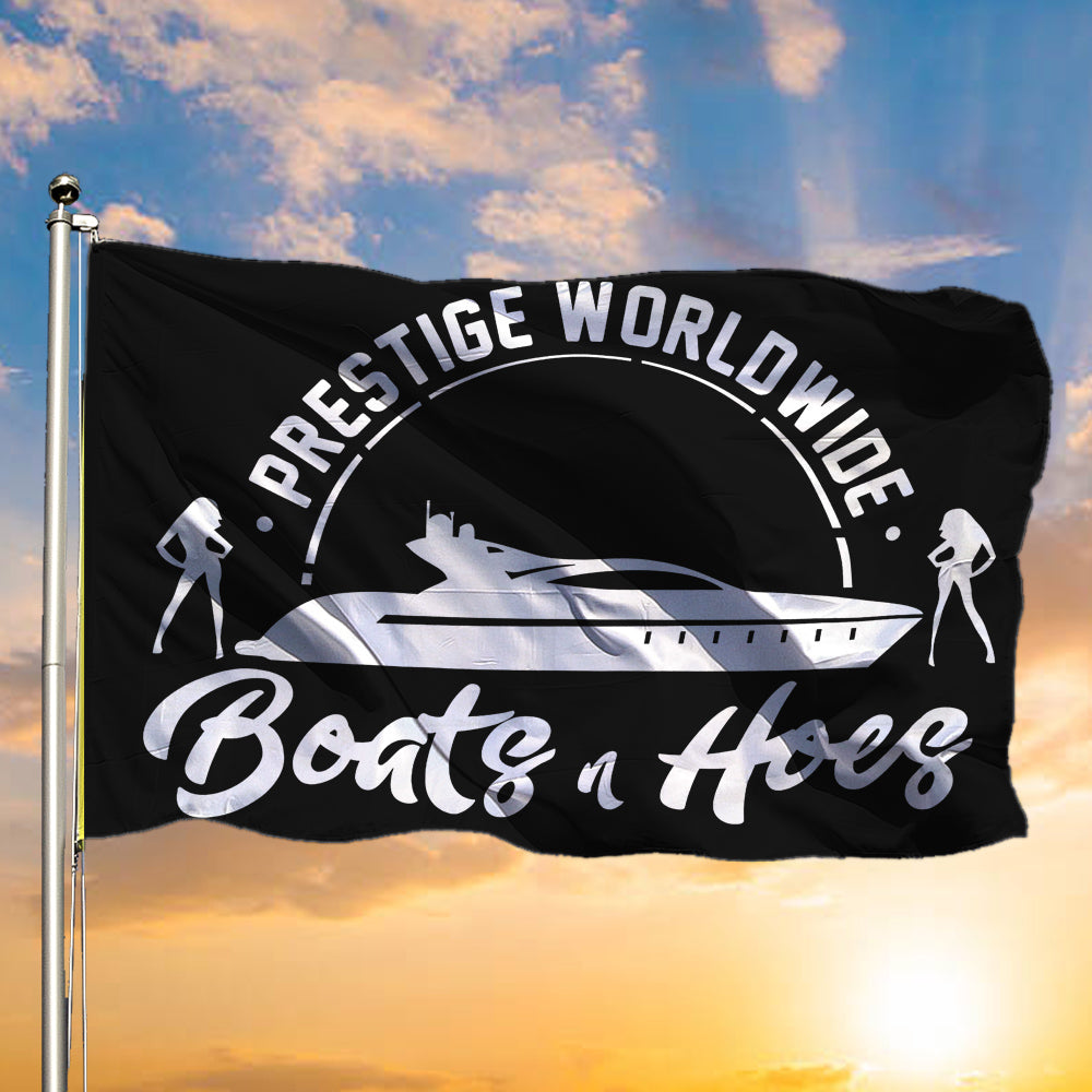 Boats And Hoes Flag Prestige Worldwide Step Brothers Presents Backyard Party Decorations