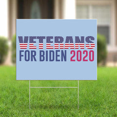 Veterans For Biden 2020 Yard Sign Biden For President Political Elecion Lawn Sign For Decor