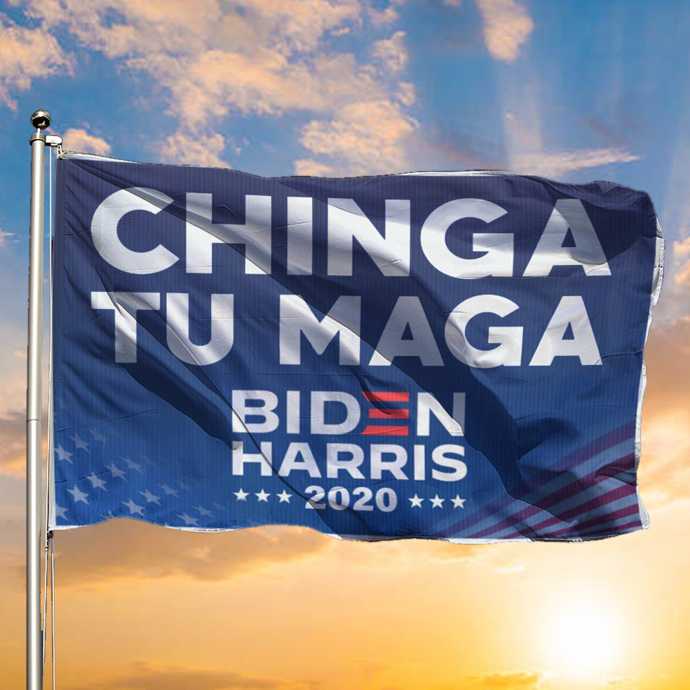 Chingatumaga Flag Chinga Tu Maga Biden Harris 2020 Flag Political Indoor Outdoor Decor