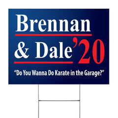 Brennan And Dale 2020 Yard Sign Do You Wanna Do Karate In the Garage Sign Funny Outdoor Decor