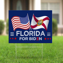 Florida For Biden 2020 Yard Sign Republicans For Biden Sign Federal Voting Rights For Biden