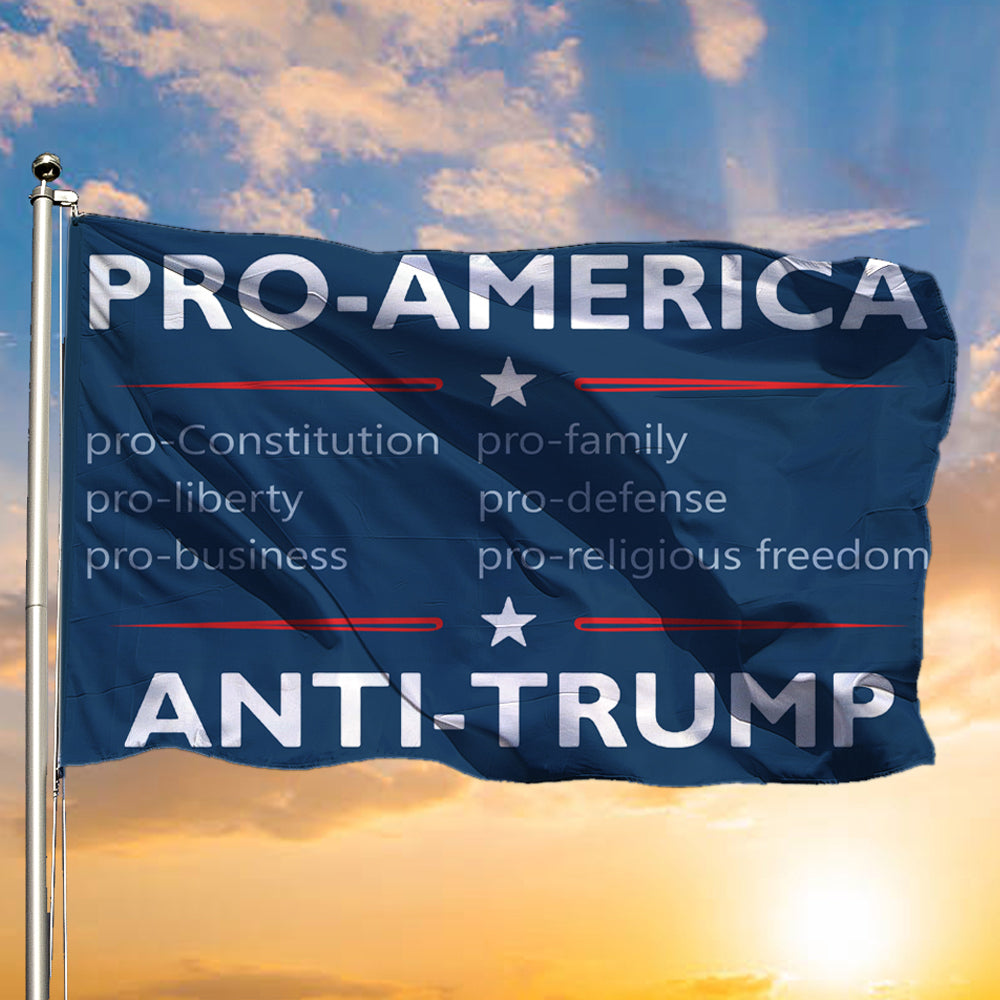 Pro-American Anti-Trump Flag Resist 2020 Election 86 45 Vote No Trump Flag Political Campaign