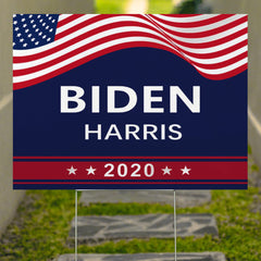 Biden Harris Yard Sign Patriotic Liberal Party USA Vote Biden For President Election 2020