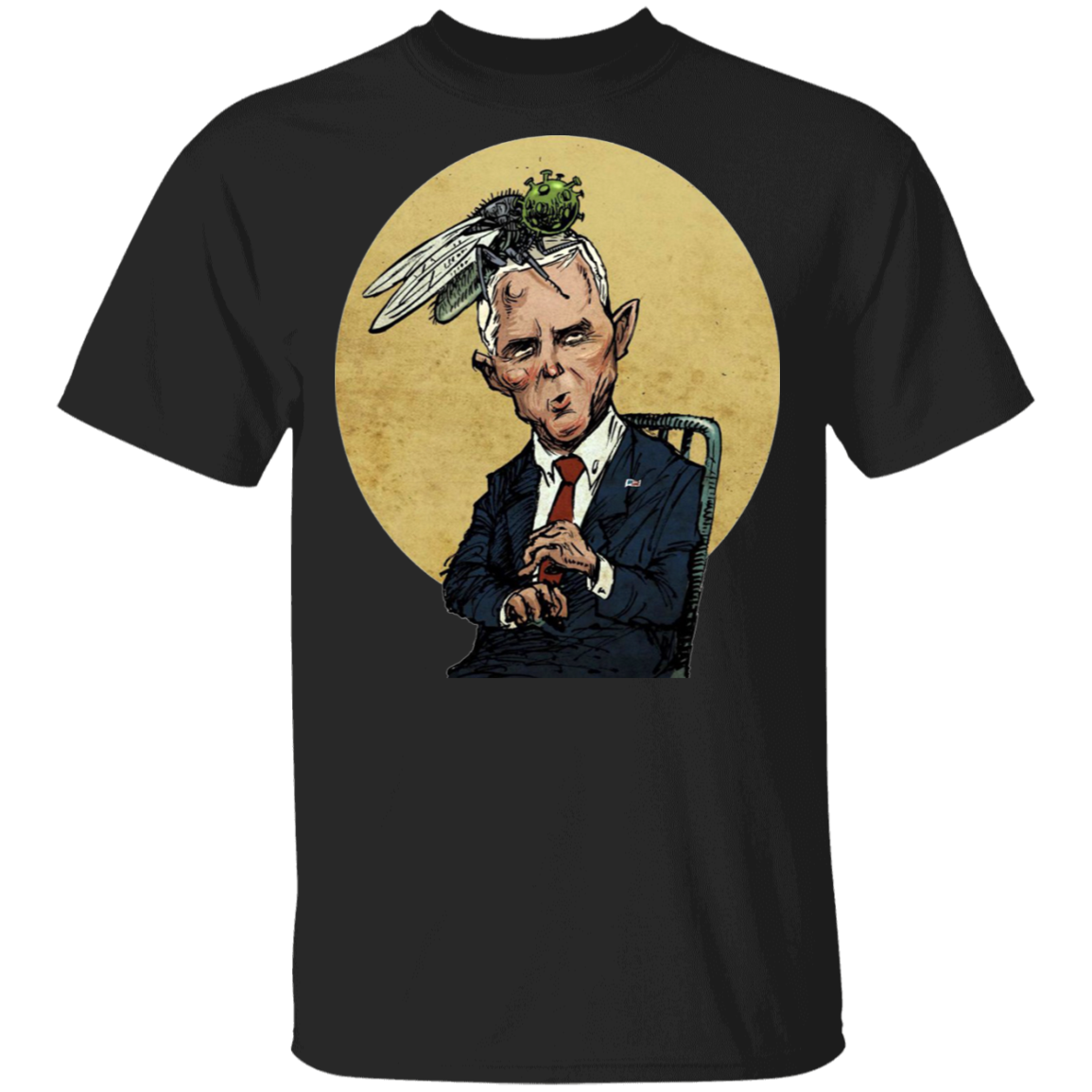 Pretty Fly For A White Guy Meme Shirt Pence Fly T-Shirt Vote Biden Harris 2020 Merch