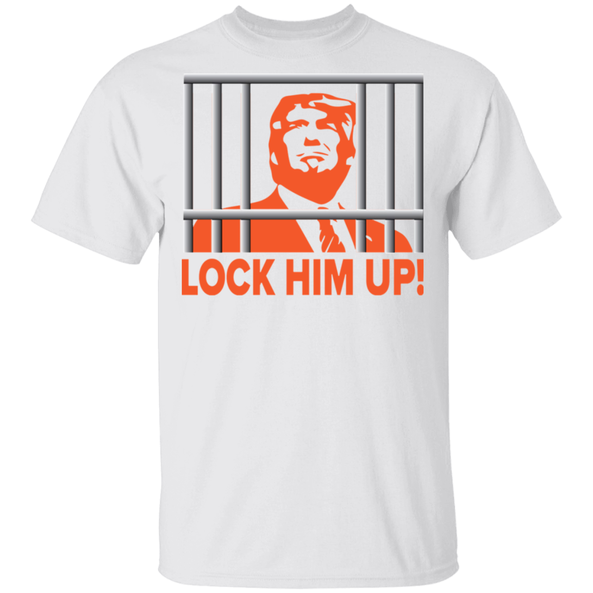 Trump Lock Him Up T-Shirt Funny Anti Trump Political Shirt Republican Voters Against Trump Ad