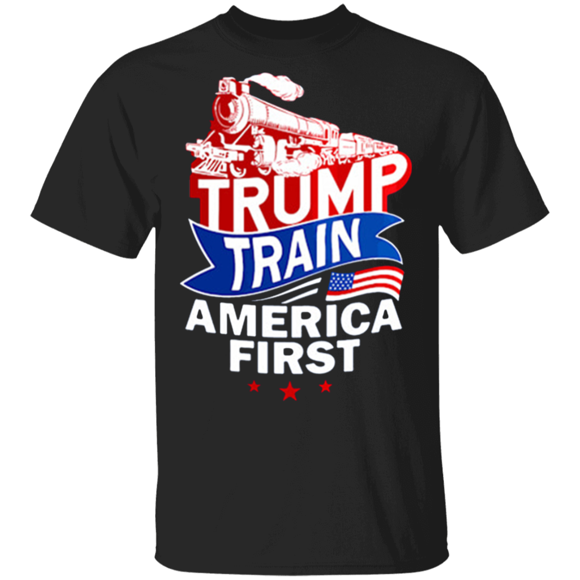 Donald Trump Train America First T-Shirt Trump 2020 Campaign Shirt