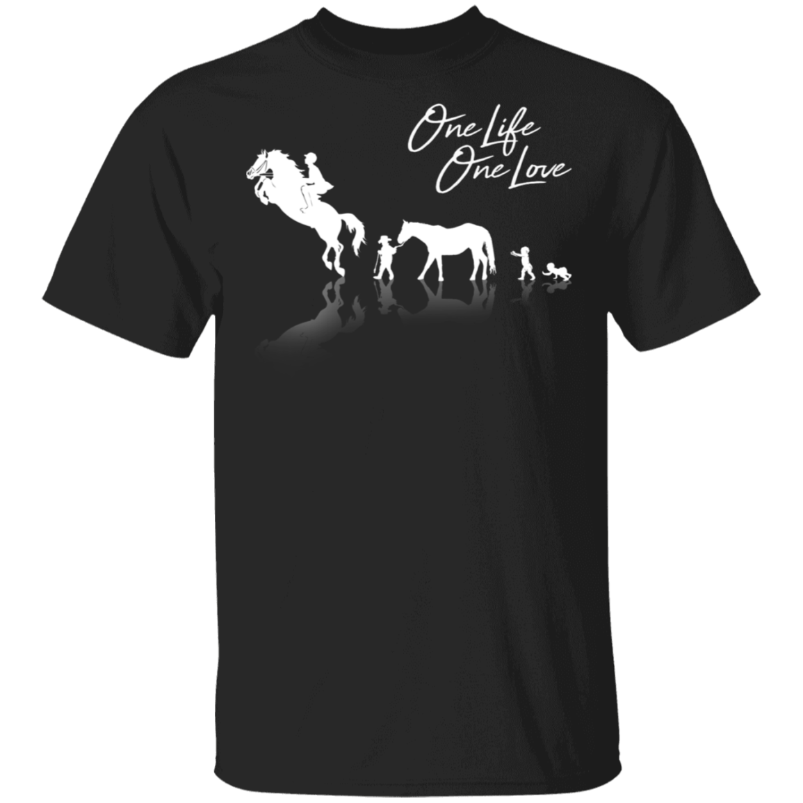 Baby And Horse One Life One Love Shirt Funny Gift For Horse Loves